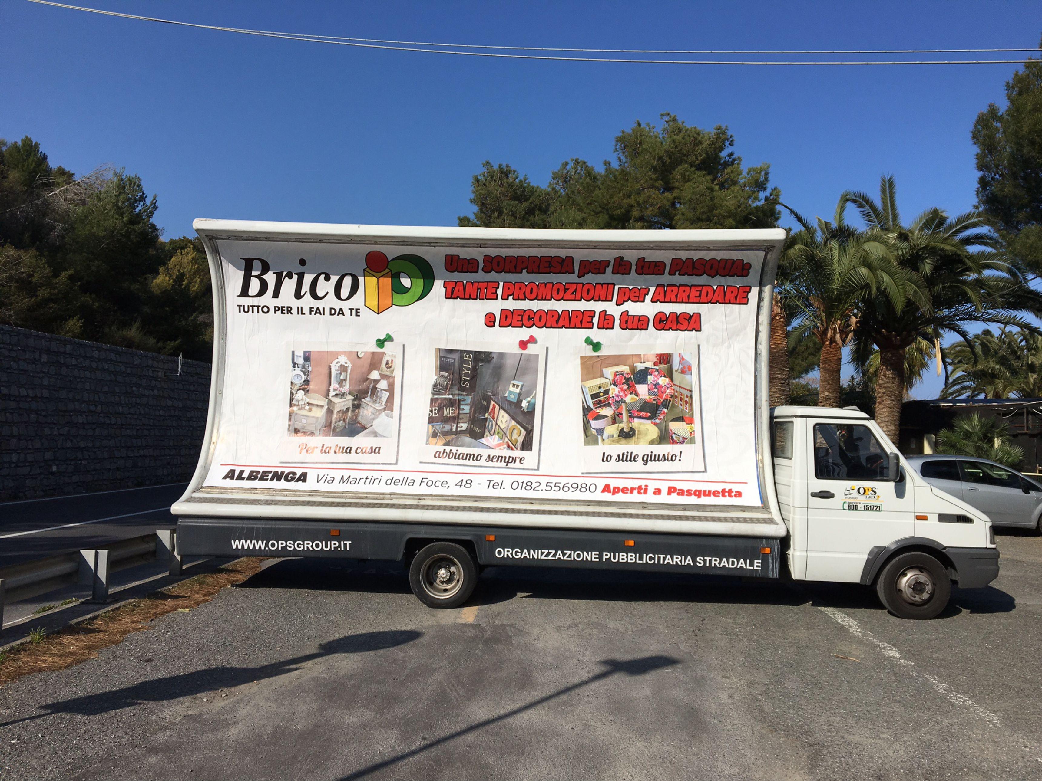 camion vela pubblicita